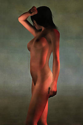 Poster featuring the painting Nude Standing by Jan Keteleer