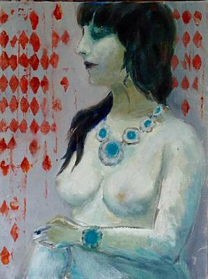 Nude With Jewelry /sold Poster