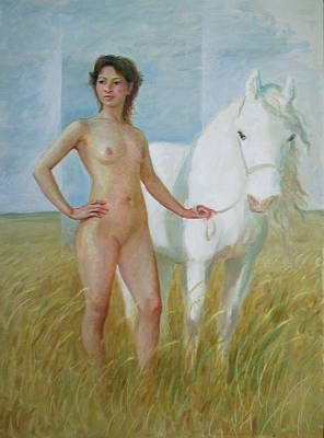 Nude With White Horse Poster