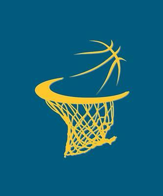 Nuggets Basketball Hoop Poster by Joe Hamilton