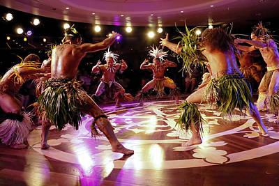 Nuku Hiva Dancers Poster by David Smith
