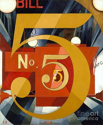 Number 5 In Gold Poster by Pg Reproductions