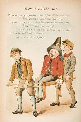 Nursery Rhyme And Illustration Of Guy Poster