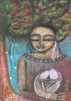 Poster featuring the mixed media Nurture Nature by Prerna Poojara