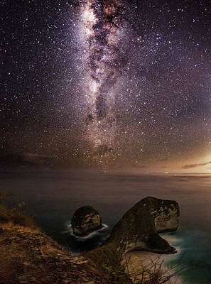 Nusa Penida Beach At Night Poster