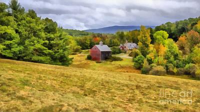 Nutt Farm Etna Hanover New Hampshire Poster