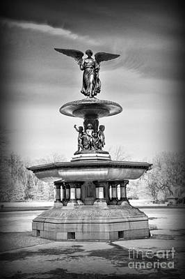 Nyc Central Park Bethesda Fountain Poster by Paul Ward