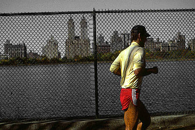 New York Central Park Jogger Poster