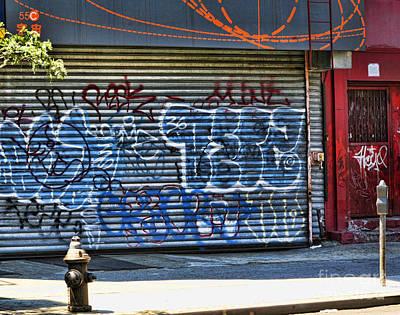 Nyc Graffiti Poster by Chuck Kuhn
