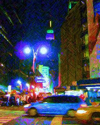 Poster featuring the photograph Nyc In Tie Dye by Susan Carella