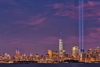 Nyc  Landmarks Wtc Tribute In Light Poster