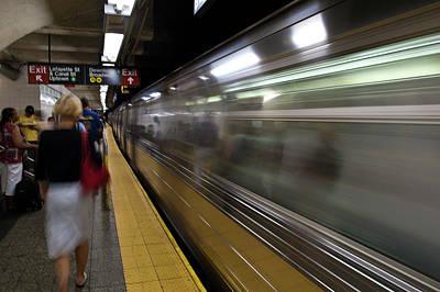 Nyc Subway Poster by Sebastian Musial