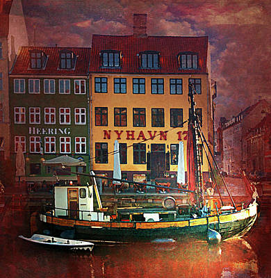 Poster featuring the photograph Nyhavn 17 by Jeff Burgess