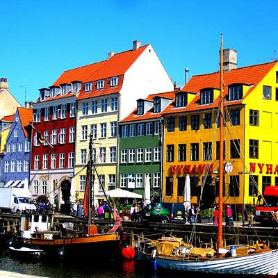 Nyhavn Copenhagen Poster by Cathy Jacobs