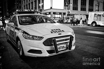 nypd police patrol car at night New York City USA Poster