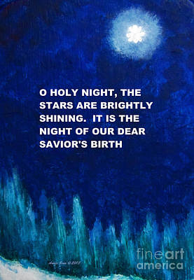 O Holy Night Painting Poster