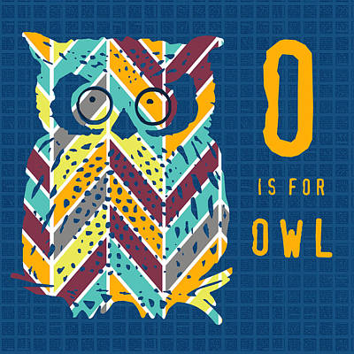O Is For Owl Poster