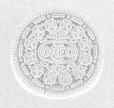 O R E O In White Poster by Rob Hans