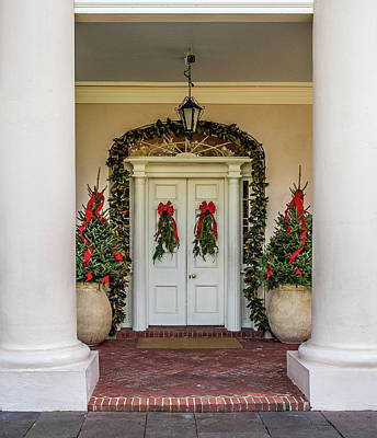 Poster featuring the photograph Oak Alley Plantation Doors by Paul Freidlund