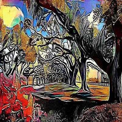 Oak Alley Plantation, Louisiana - My Www Vikinek-art.com Poster