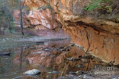 Oak Creek Reflections - Sedona, Az Poster