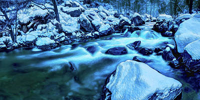 Poster featuring the photograph Oak Creek Snow by ABeautifulSky Photography