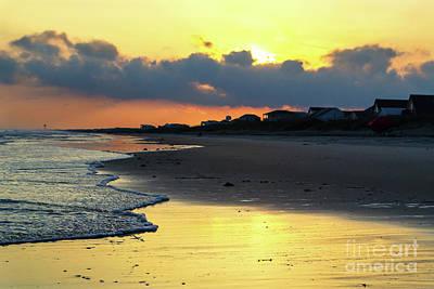 Oak Island Yellow Sunset Poster