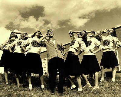 Oak Ridge High School Cheerleaders 1946 Poster by Ed Westcott