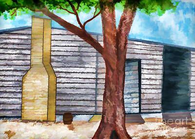 Oak Tree By The Cracker Cabin Poster by D Hackett