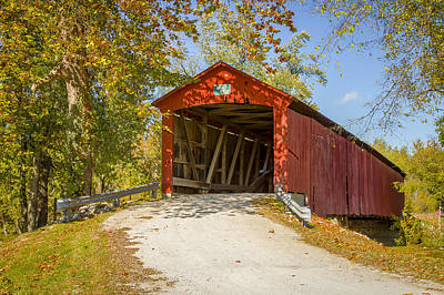 Oakalla/shoppell Covered Bridge Poster by Jack R Perry