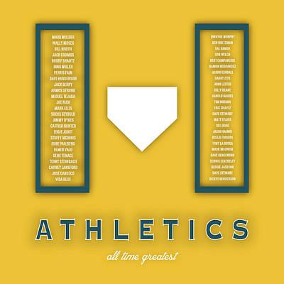 Oakland Athletics Art - Mlb Baseball Wall Print Poster by Damon Gray