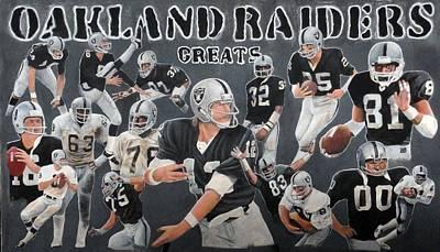Oakland Raider Greats Poster