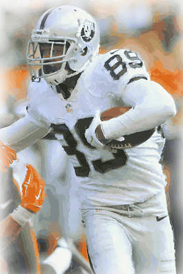 Oakland Raiders Amari Cooper 2 Poster by Joe Hamilton