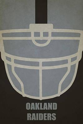 Oakland Raiders Helmet Art Poster by Joe Hamilton