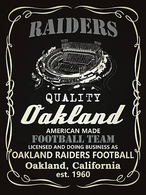 Oakland Raiders Whiskey Poster