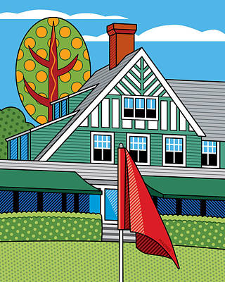 Oakmont Country Club Poster by Ron Magnes