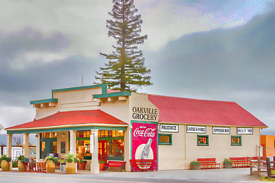 Oakville Grocery Poster by Bill Gallagher