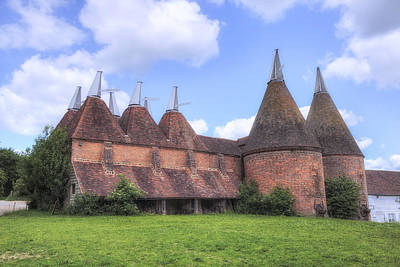 Oast Houses - England Poster