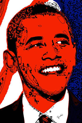 Poster featuring the digital art Obama Hope by Rabi Khan