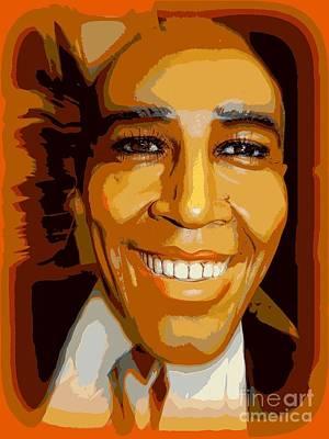 Obama In Orange Poster