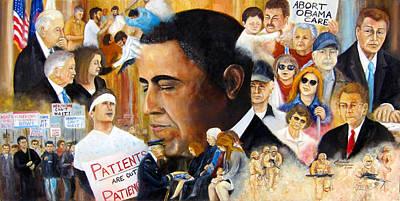 Obama's Full Plate Poster by Leonardo Ruggieri