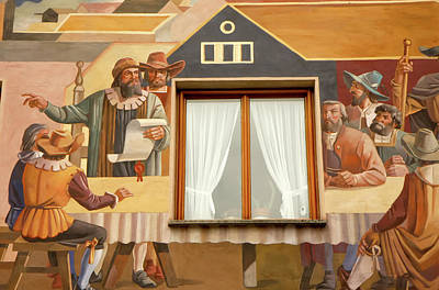 Poster featuring the photograph Oberammergau Frescoe by KG Thienemann
