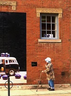 Observing Building Art Poster