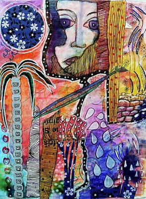 Poster featuring the mixed media Observing The World Through A Crack In The Universe by Mimulux patricia no No
