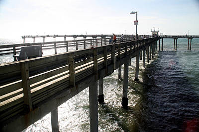 Poster featuring the photograph Ocean Beach Pier by Christopher Woods