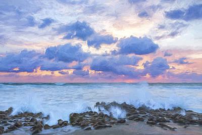 Ocean Blooms II Poster by Jon Glaser