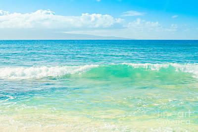 Ocean Blue Beach Dreams Poster by Sharon Mau