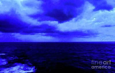 Ocean Blue Digital Painting Poster