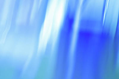 Ocean Blues Abstract Poster