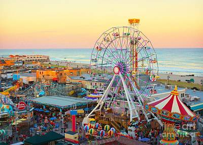 Ocean City New Jersey Boardwalk And Music Pier Poster